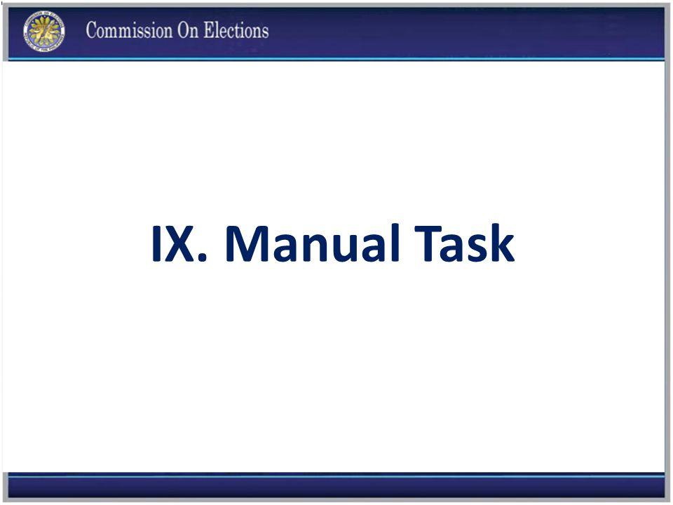 IX. Manual Task