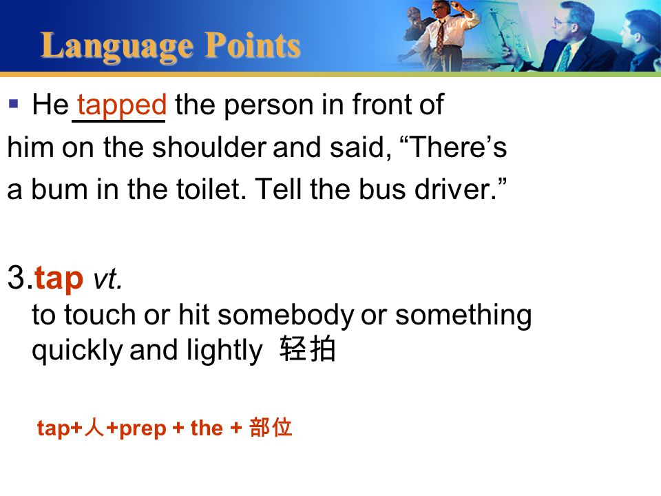 Language Points 2.restroom n.  W.C.