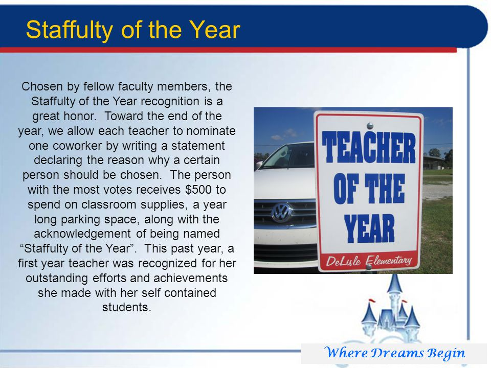 Staffulty of the Year Chosen by fellow faculty members, the Staffulty of the Year recognition is a great honor.