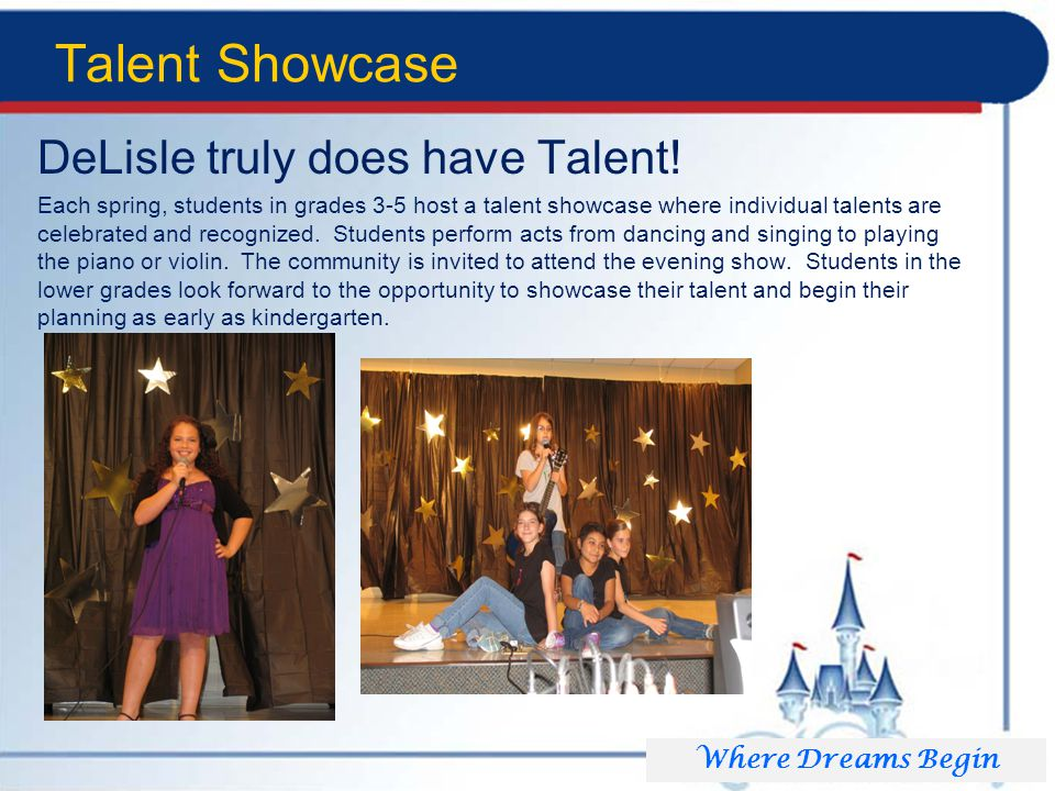 Talent Showcase DeLisle truly does have Talent.