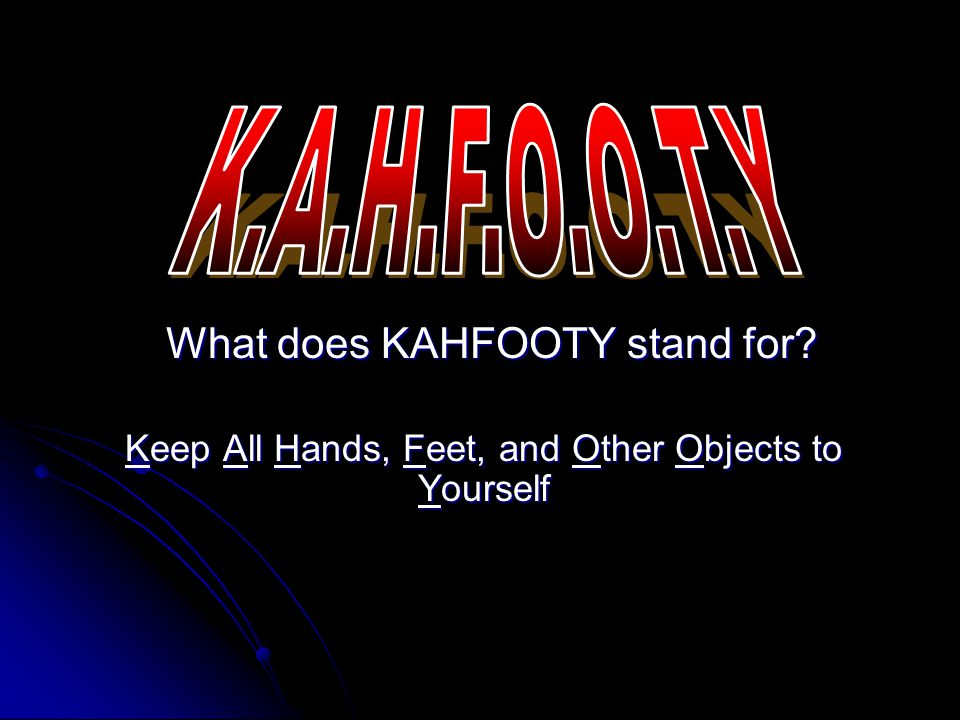 Why do you think it is important to follow KAHFOOTY.