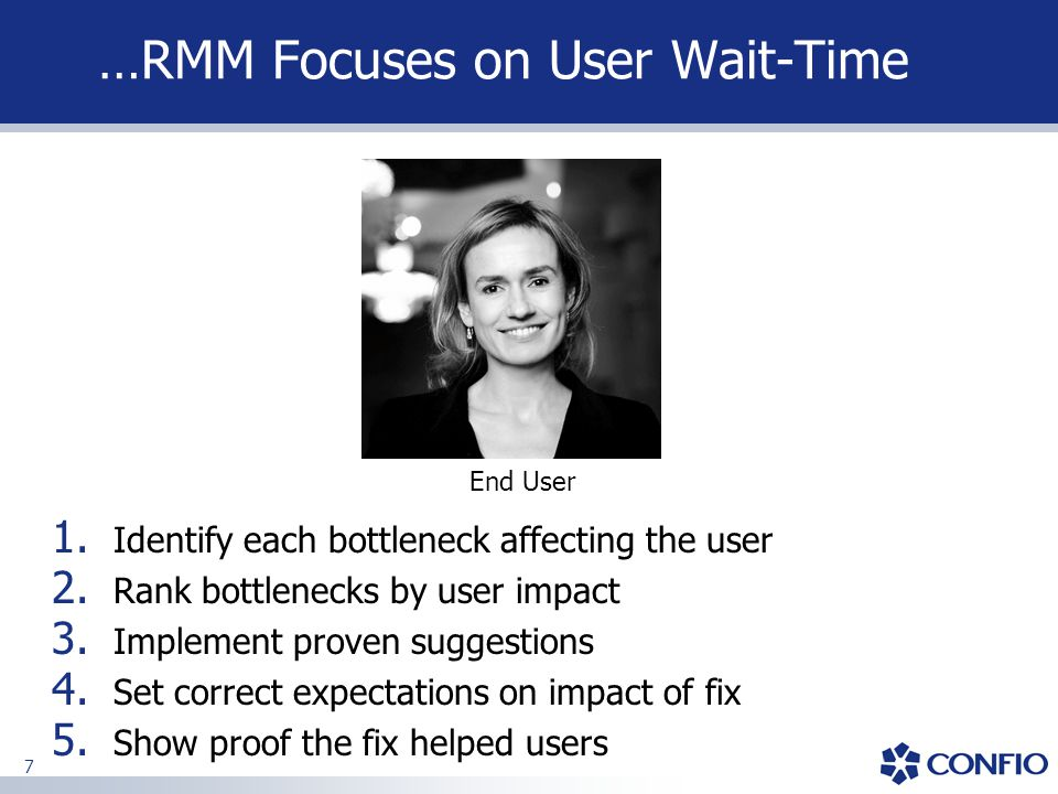 48 Problem Observed  Problem: High Wait on CPPFPROD Accumulated wait 9.5 hours (34,000 sec) during 3.00-4.00am hour End users were complaining loudly  Applied RMM approach to problem identification: Identify Wait Time, offending SQL, offending Resource