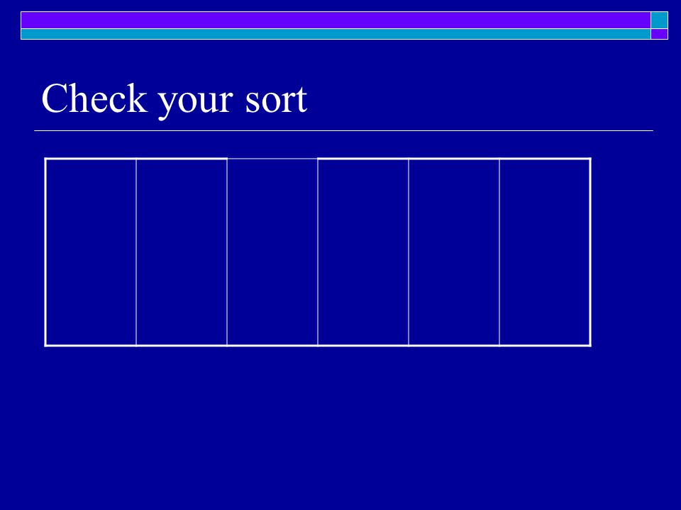 Check your sort