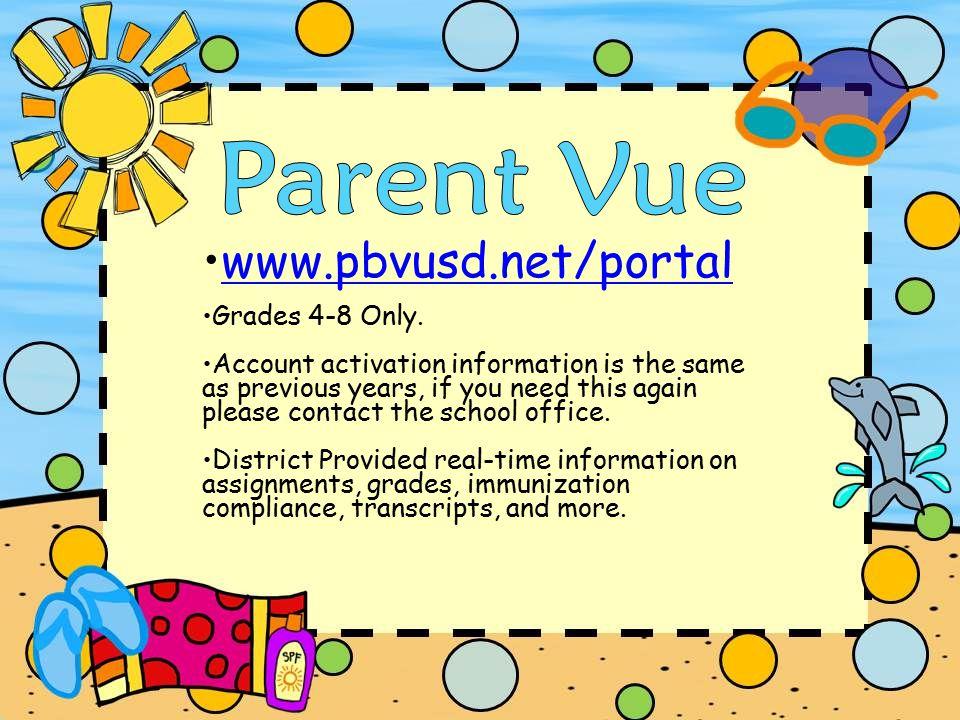 www.pbvusd.net/portal Grades 4-8 Only.