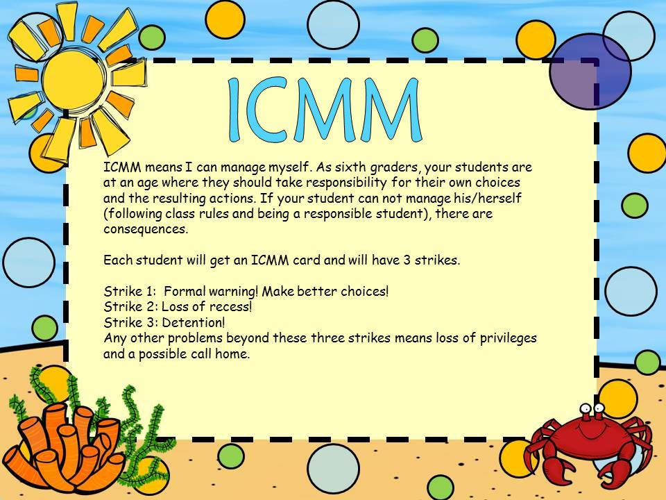 ICMM means I can manage myself.
