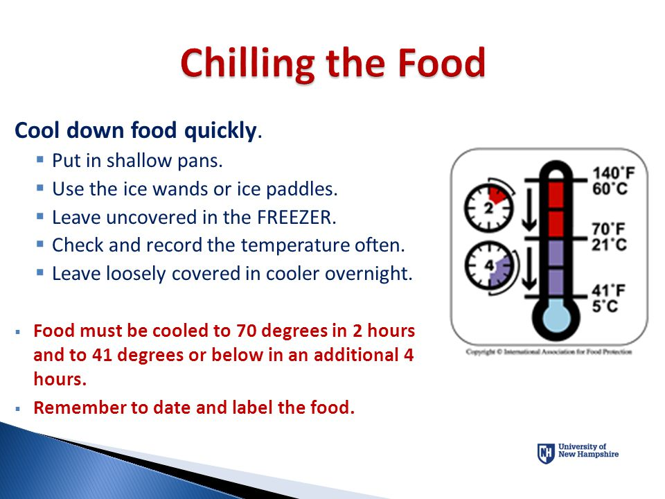 Food Reheated for Service or Hot-Holding Must be reheated to an internal temperature of 165°F (74°C) for 15 seconds within 2 hours
