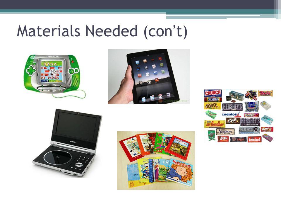 Materials Needed (con't)