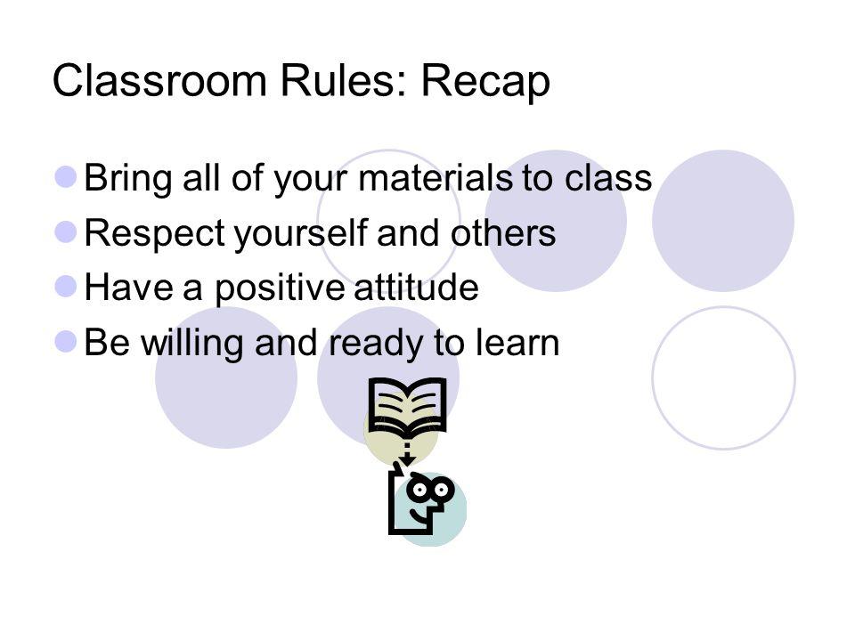 Classroom Procedures Mr. Capo Rm. 205