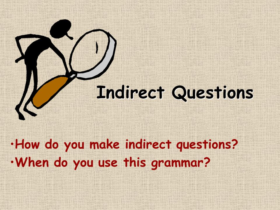 Indirect Questions......