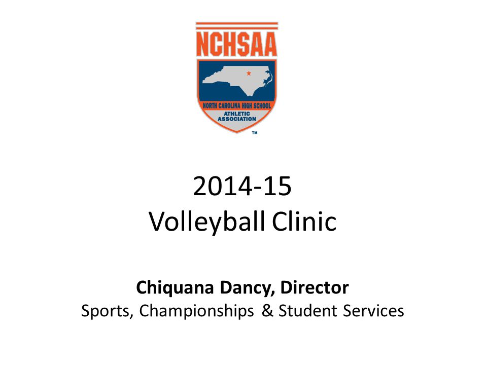 2014-15 Volleyball Clinic Chiquana Dancy, Director Sports, Championships & Student Services