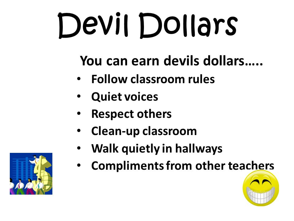 Devil Dollars You can earn devils dollars…..