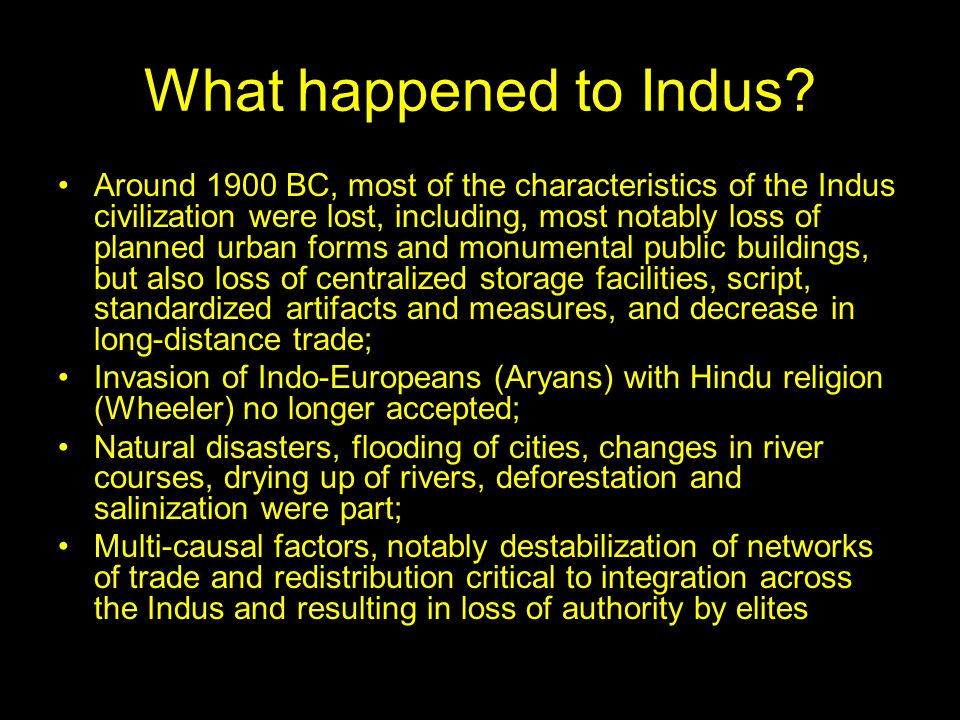 What happened to Indus.