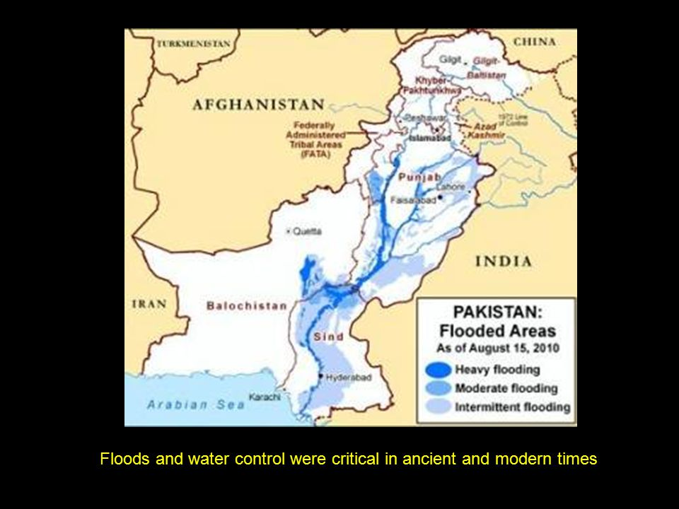 Floods and water control were critical in ancient and modern times