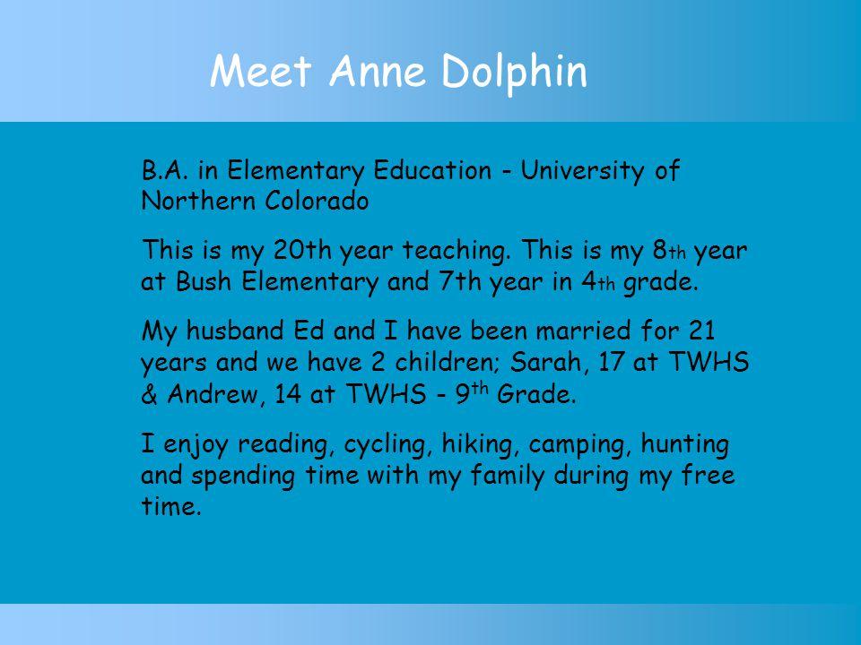 Meet Anne Dolphin B.A.