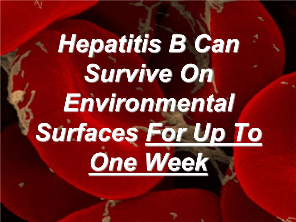 Hepatitis B Can Survive On Environmental Surfaces For Up To One Week