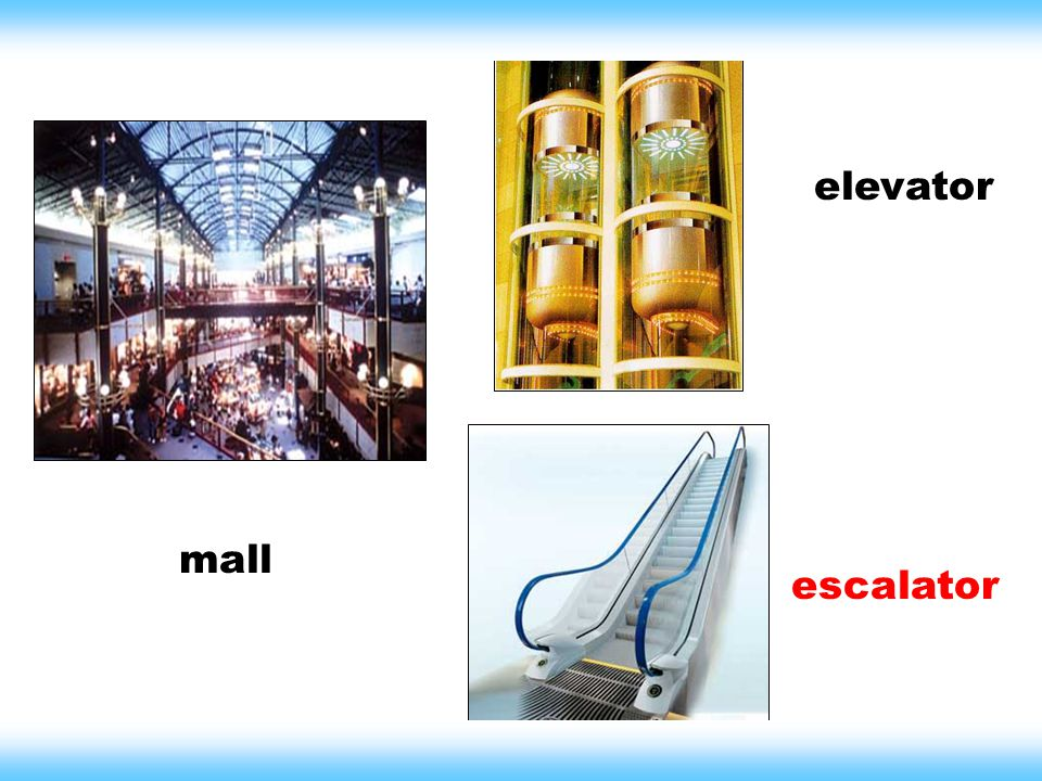 elevator escalator mall
