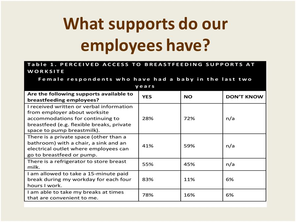 What supports do our employees have?