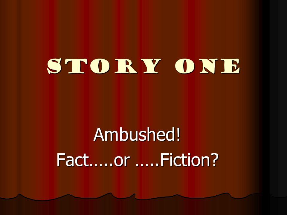 Story ONE Ambushed! Fact…..or …..Fiction?