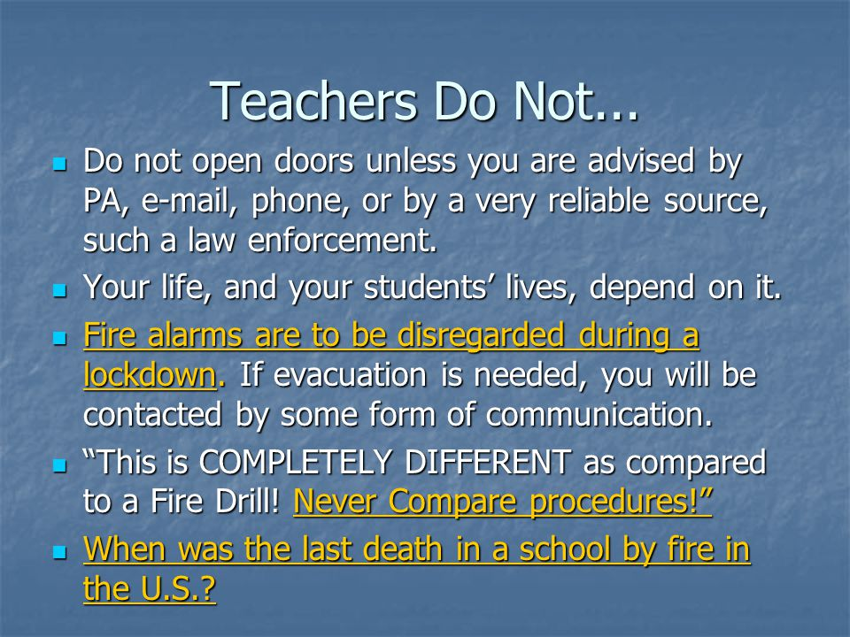 Teachers Do Not...