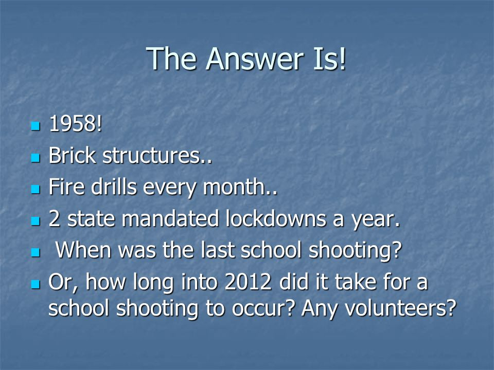 The Answer Is.1958. 1958. Brick structures.. Brick structures..