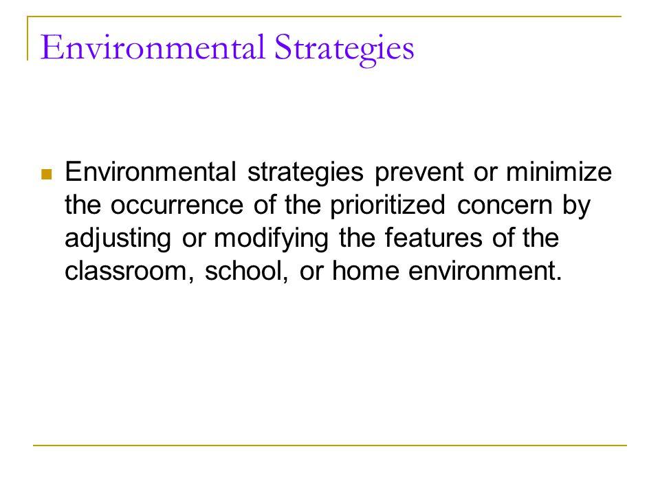 Designing the Positive Support Plan Environmental strategies Teaching strategies Altered Response strategies