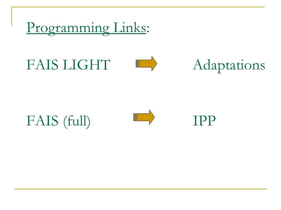 FAIS Light and PEBS Every behaviour has a function. Identify the function of the problem behaviour. Teach an alternative behaviour that serves the sam