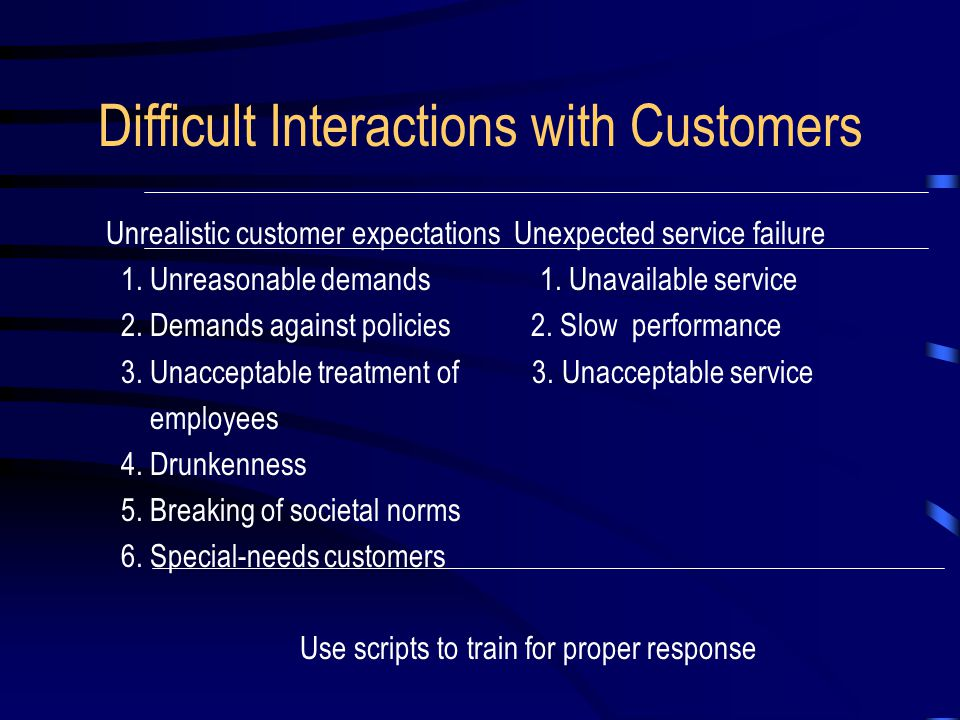 The Customer Expectations and Attitudes Economizing customer Ethical customer Personalizing customer Convenience customer Customer as Co-Producer