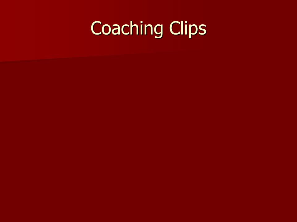 Coaching Clips