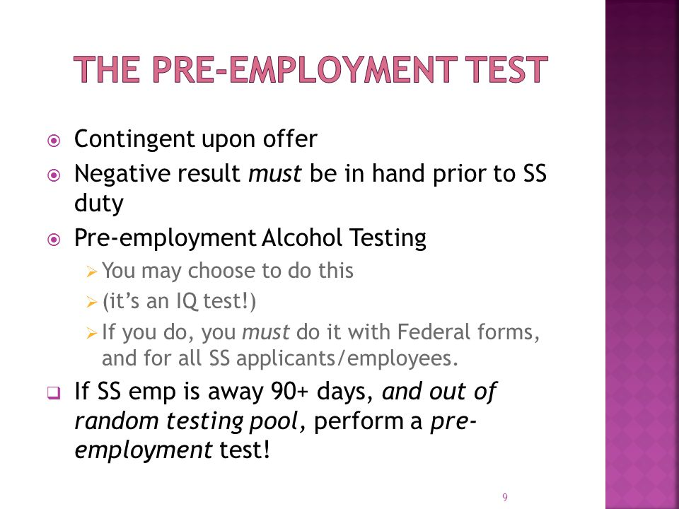 Keep pre-employment negatives beyond FTA's retention requirement Keep them as long as you employ the individual Record date of safety- sensitive duty In addition to date of hire 40.25 Log your good-faith efforts 10