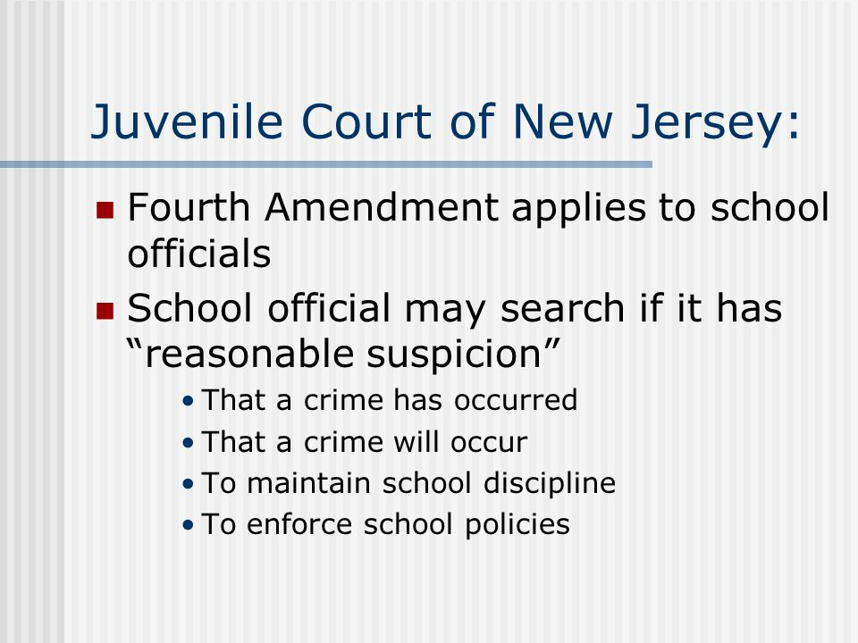 Question: How are schools different than the police when searching individuals.