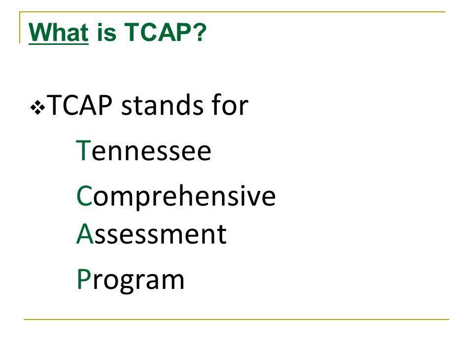 What happens after TCAP.