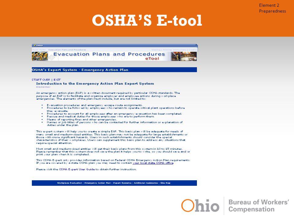 OSHA'S E-tool Element 2 Preparedness