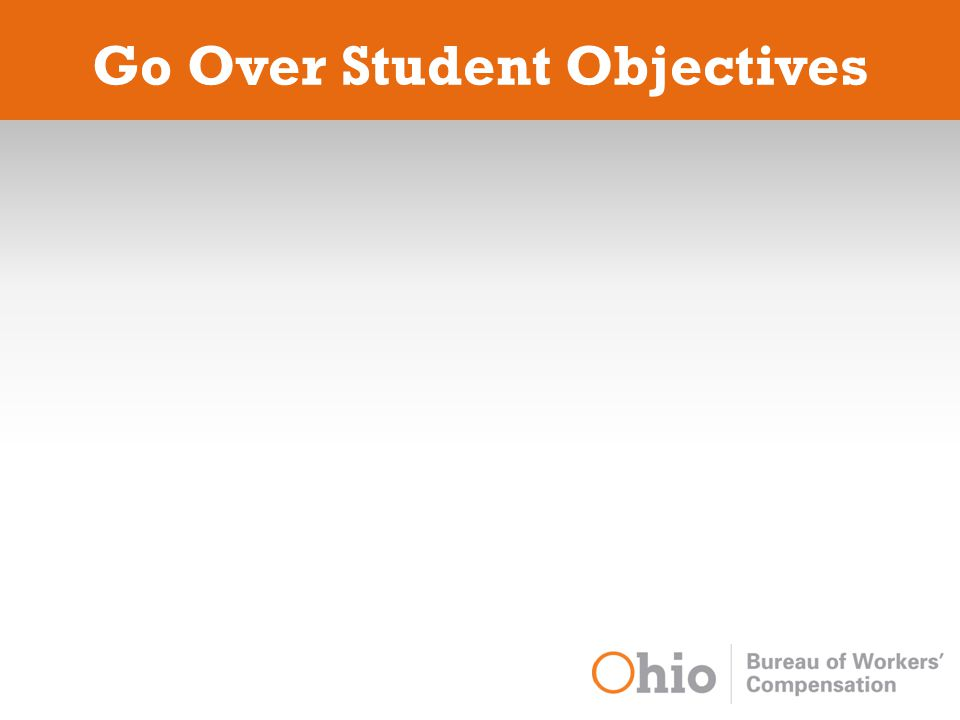 Go Over Student Objectives