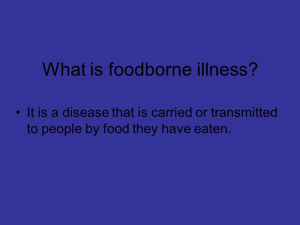 How many people must experience a foodborne illness before it is considered an outbreak.