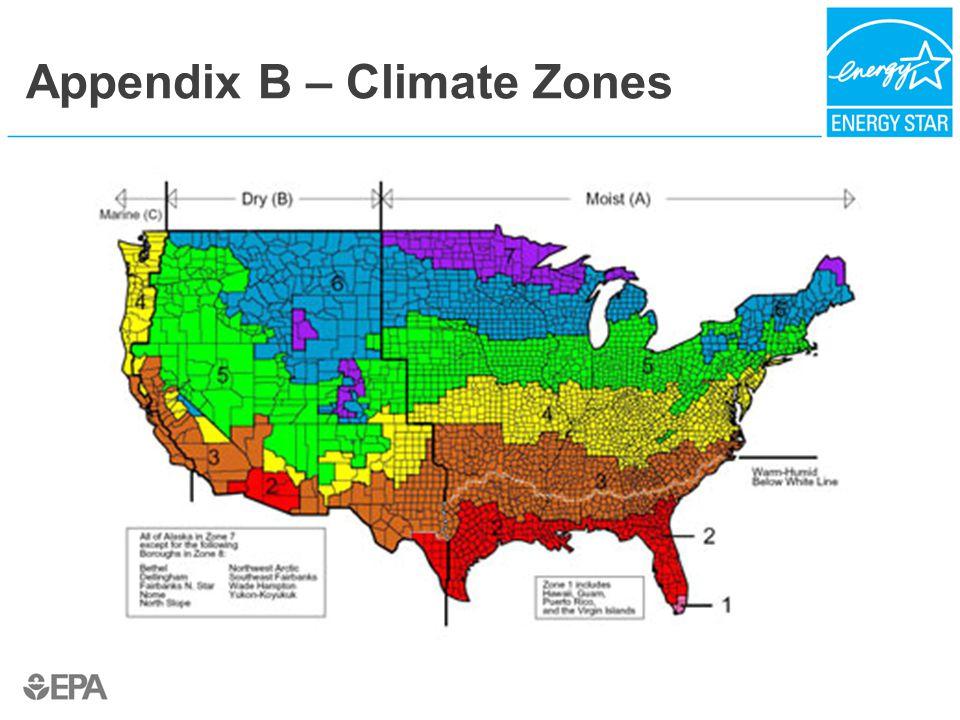 Appendix B – Climate Zones