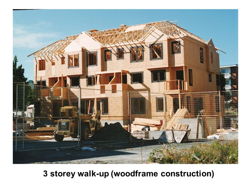 3 storey walk-up (woodframe construction)