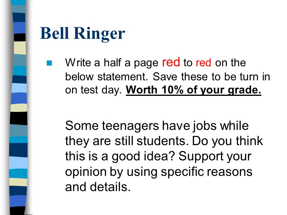 Write a half a page red to red on the below statement.