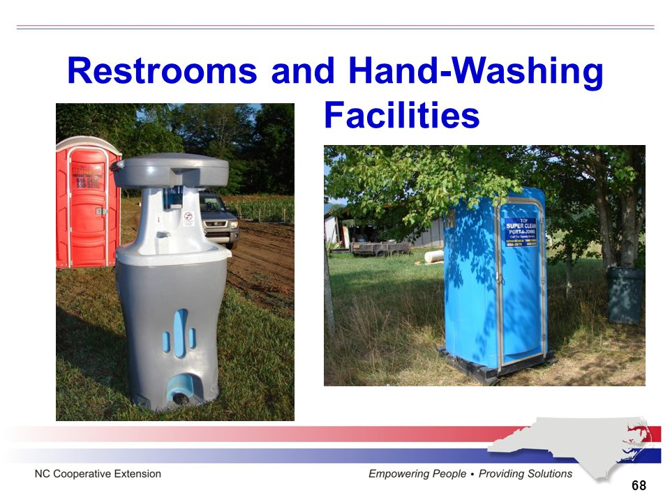 Restrooms and Hand-Washing Facilities 68
