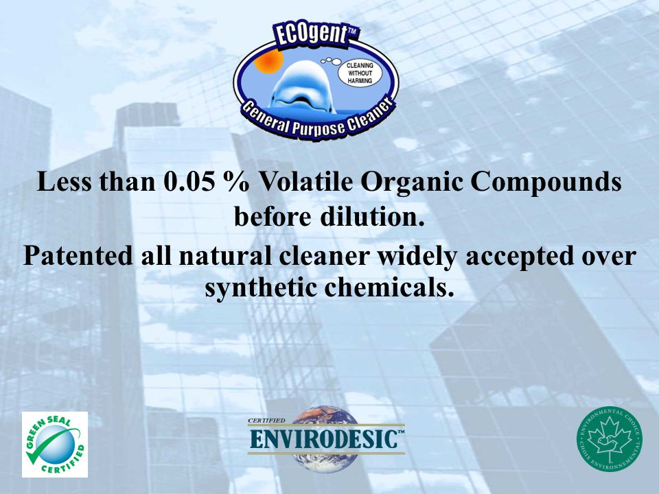 Less than 0.05 % Volatile Organic Compounds before dilution.