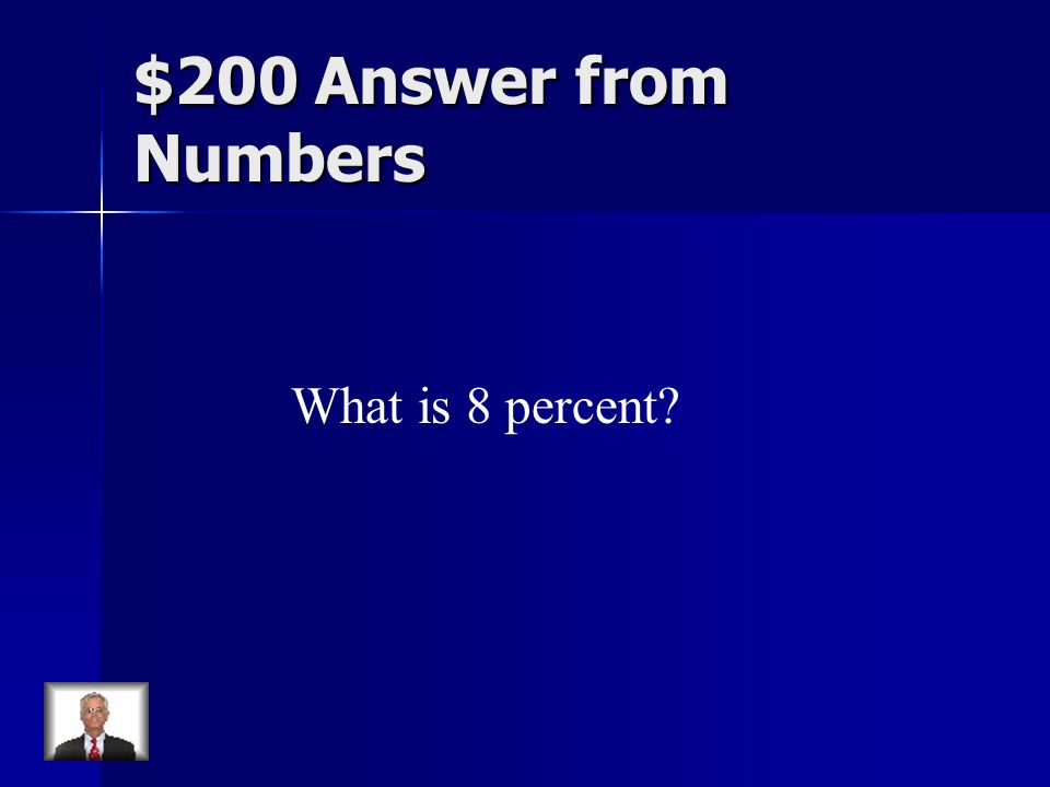 $200 Answer from Numbers What is 8 percent