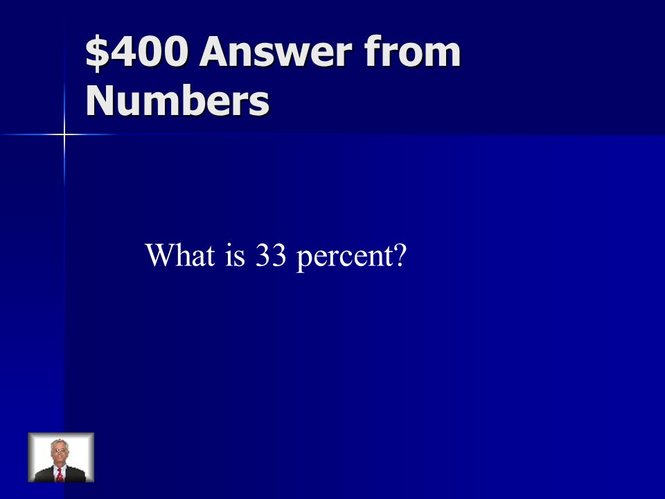 $400 Answer from Numbers What is 33 percent