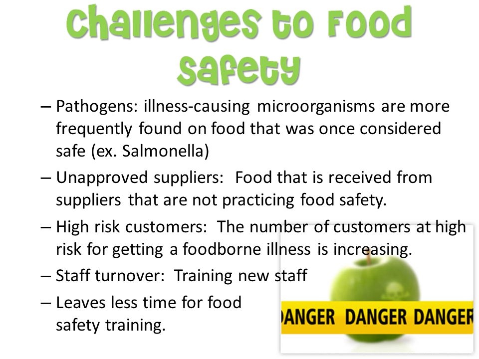 Foodhandlers can cause a food borne illness if they do any of the following actions: – Fail to wash their hands the right way after using the restroom or after any time their hands get dirty – Come to work while sick – Cough or sneeze on food – Touch or scratch wounds, and then touch food