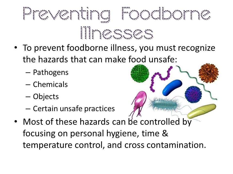 4) What is an important measure for preventing foodborne illness.