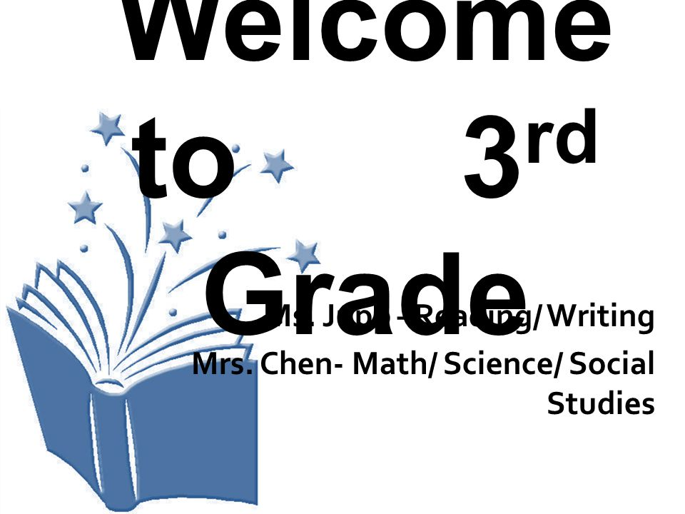 Welcome to 3 rd Grade Ms. Jupp –Reading/ Writing Mrs. Chen- Math/ Science/ Social Studies