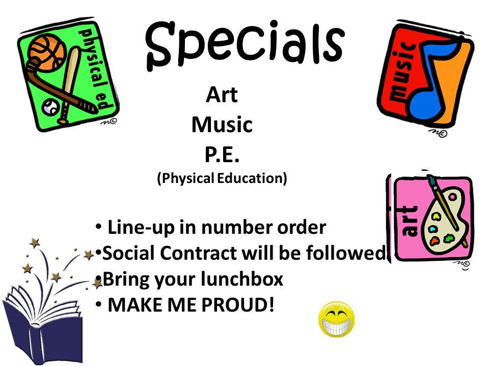 Specials Art Music P.E.