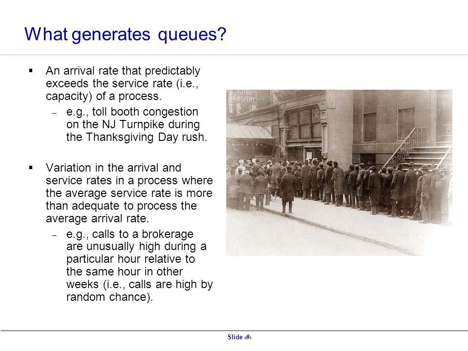 Slide 22 What generates queues.