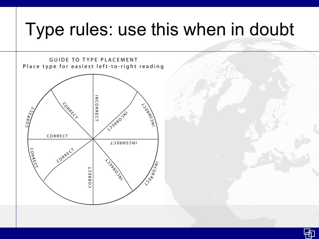 Type rules: use this when in doubt
