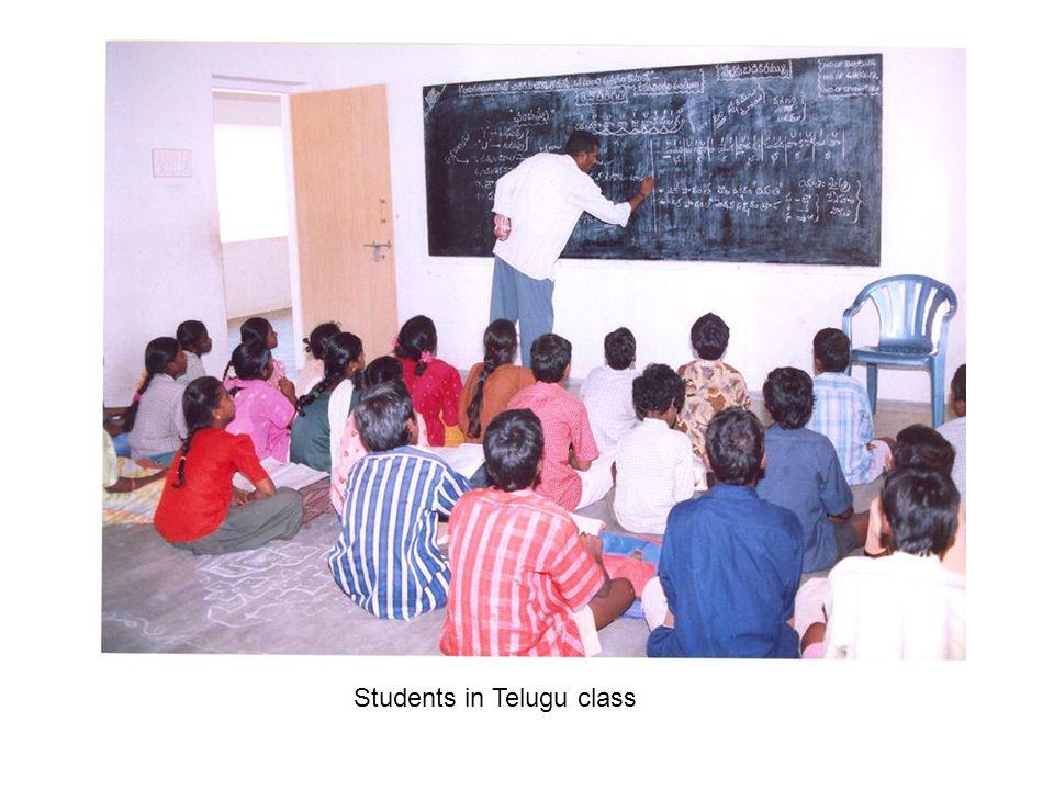 Students in Telugu class