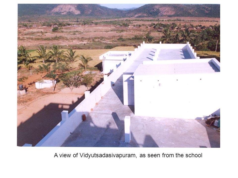 A view of Vidyutsadasivapuram, as seen from the school
