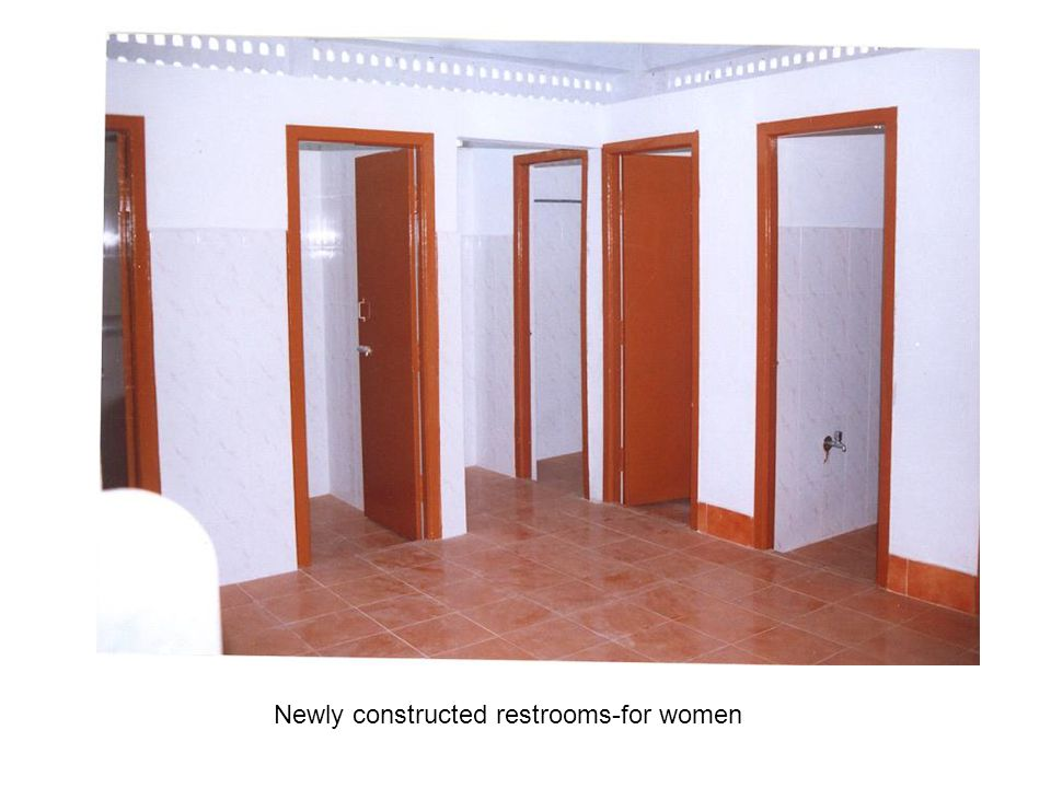 Newly constructed restrooms-for women